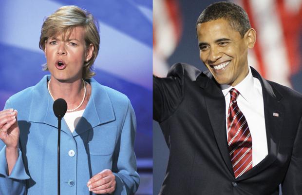 Tammy Baldwin (WI Senator) and Barack Obama (U.S. President)